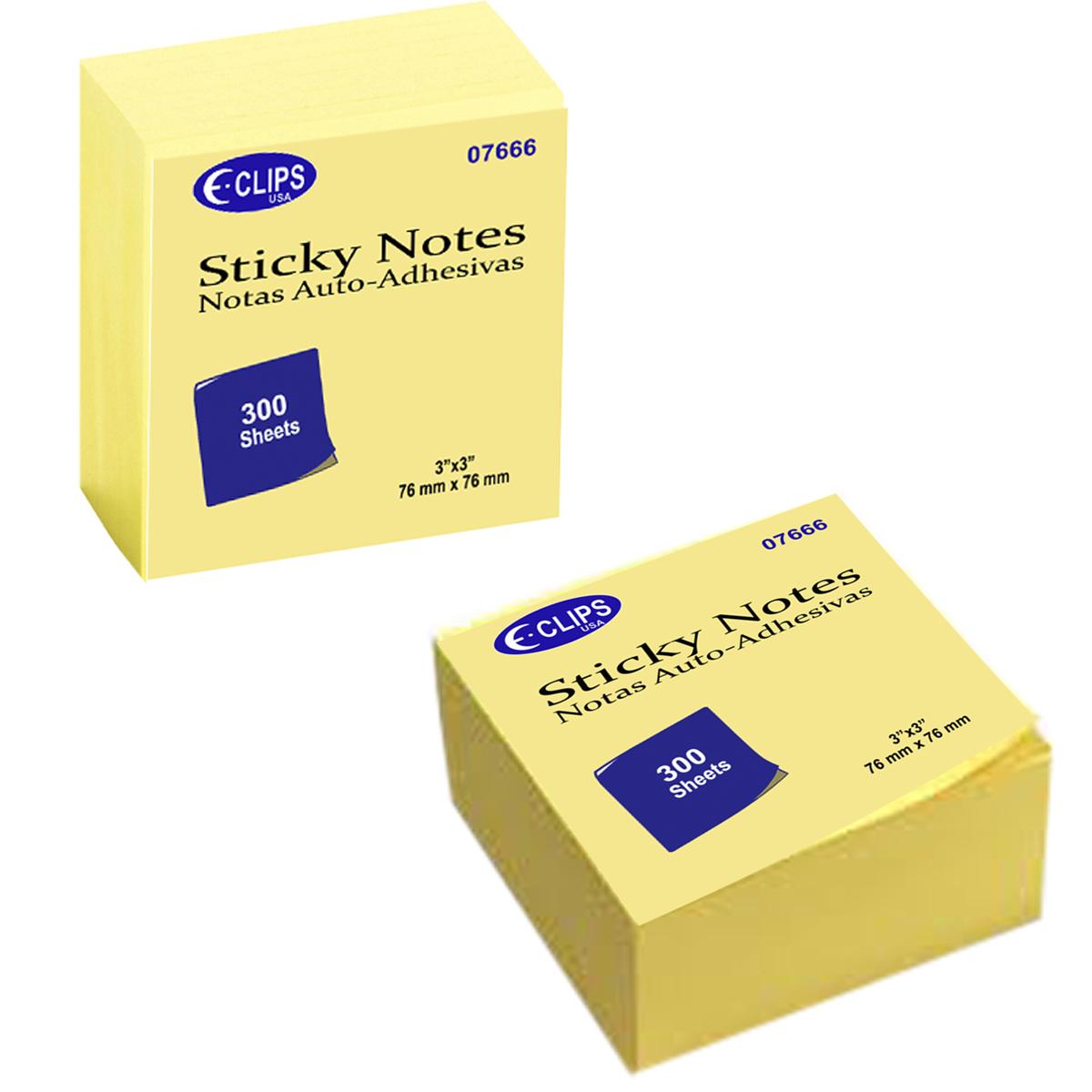 ''Sticky NOTE Pads 3'''' x 3'''' - 300 Sheets (1941229)''