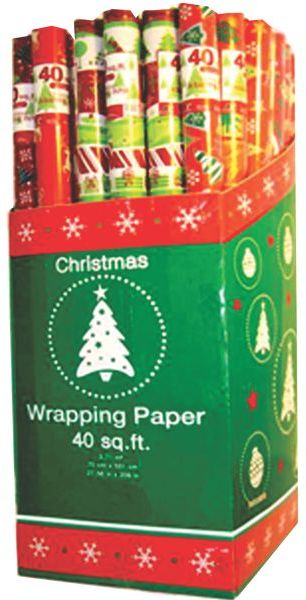 ''CHRISTMAS Gift Wrap rolls - 30'''' x 40 sq.ft/roll [1472251]''