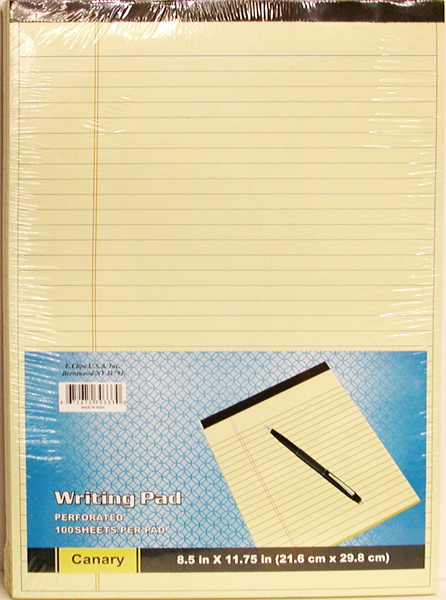 ''Legal Pads - Canary/Yellow - 8.5'''' x 11'''' - 100 sheets [1288333]''