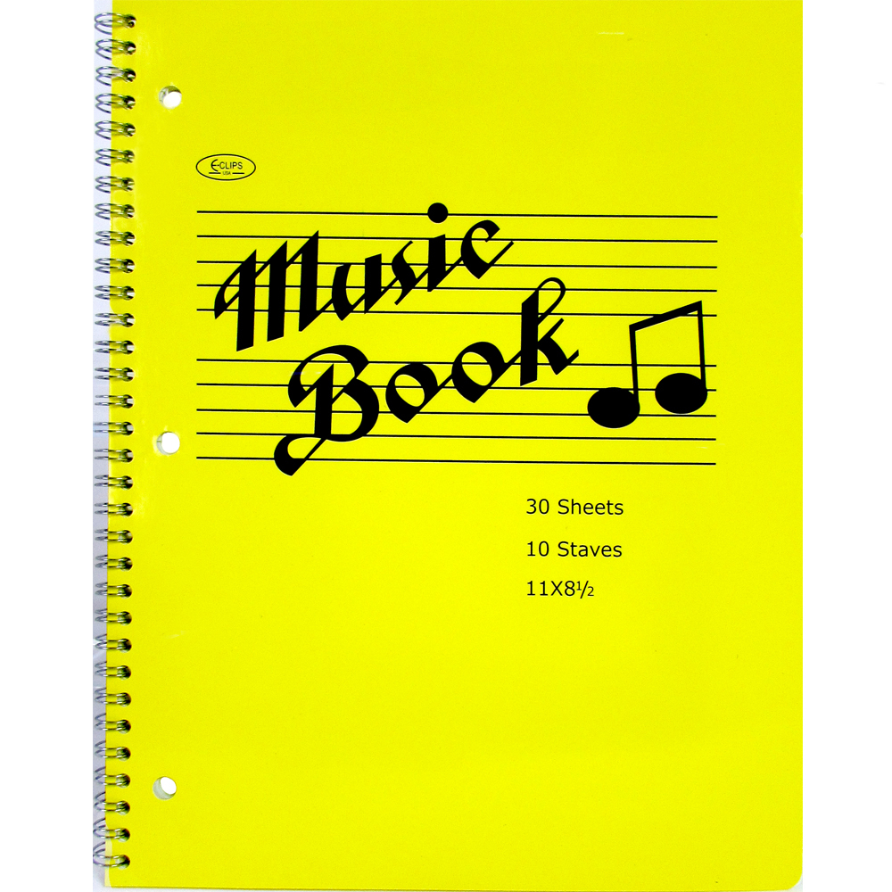 ''MUSIC Notebook, 60 Pages, 11'''' x 8.5'''' [1276971]''