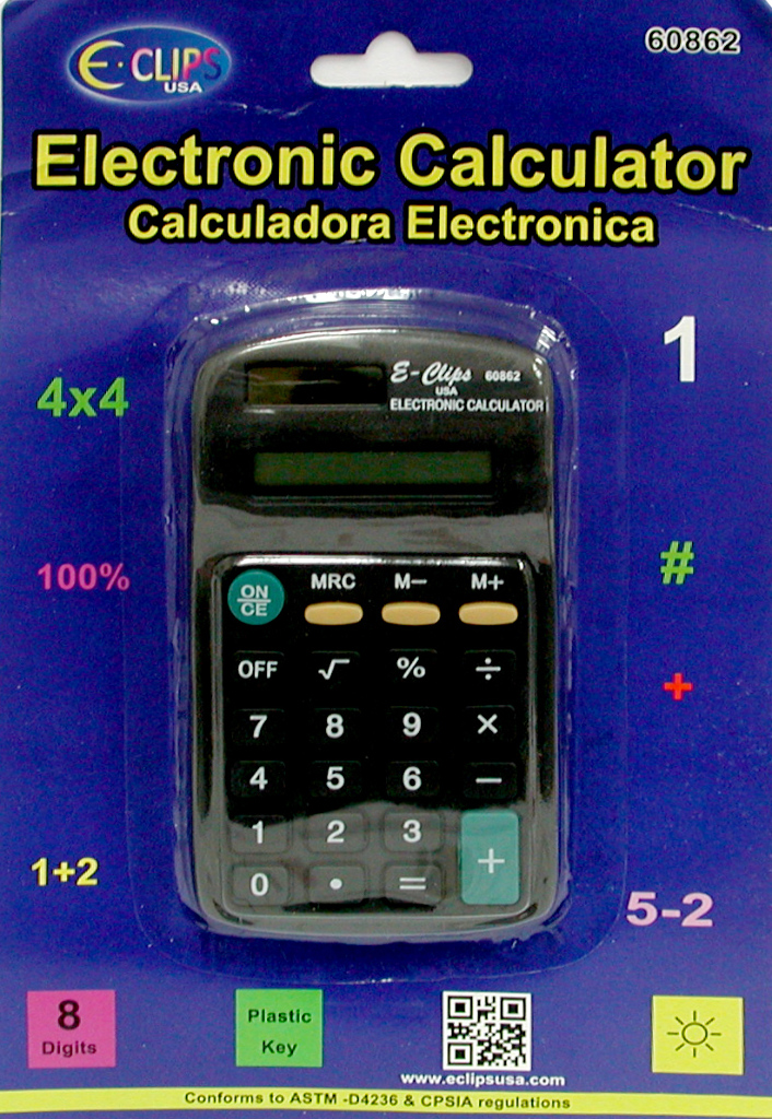 Calculator - 8 Digit - SOLAR powered (1858970)