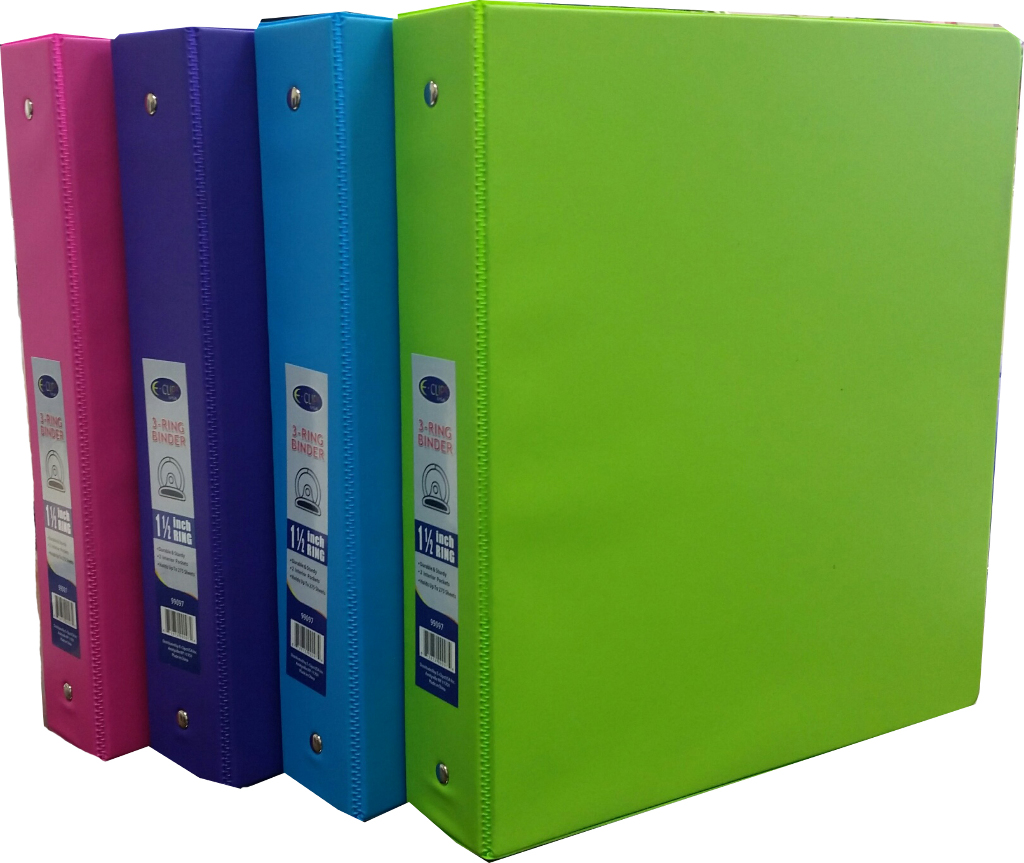 Wholesale 1 5 Quot 3 Ring Vinyl Binder 4 Neon Colors Sku