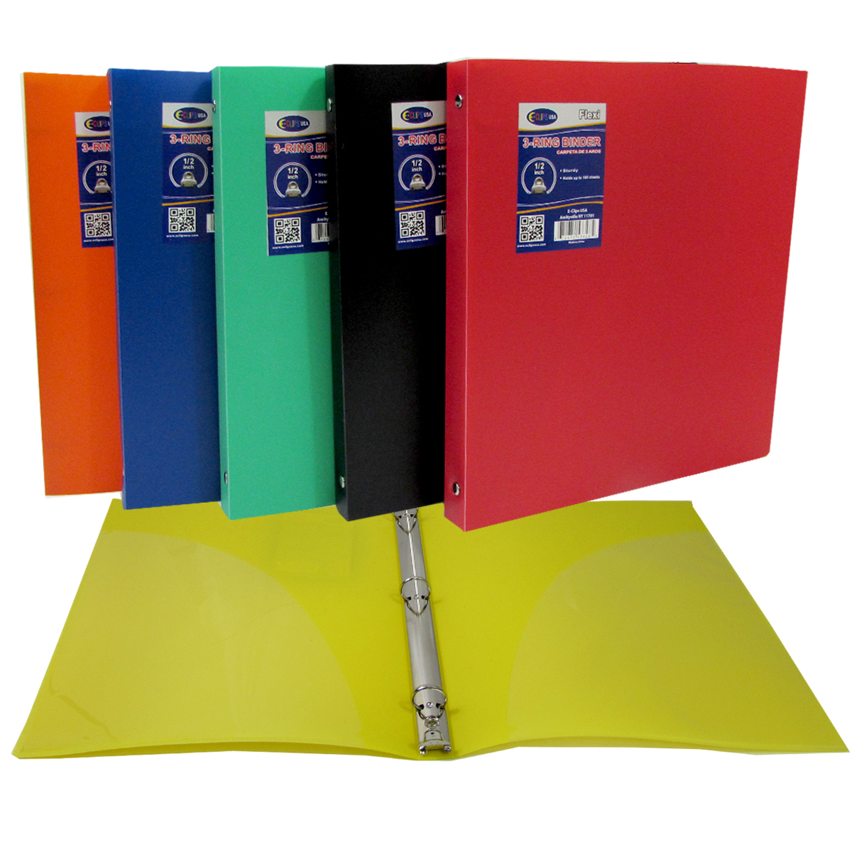 1 Inch 3 RING Binder in Assorted Colors (1909820)