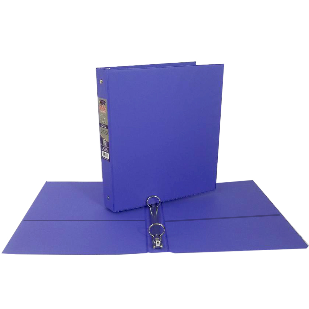 wholesale 1 quot purple vinyl 3 ring binder w 2 pockets sku