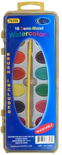 WaterColor PAINT set - 16 Colors + Brush [1284660]