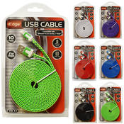 10 Foot Flat Rope iPhone Cable.