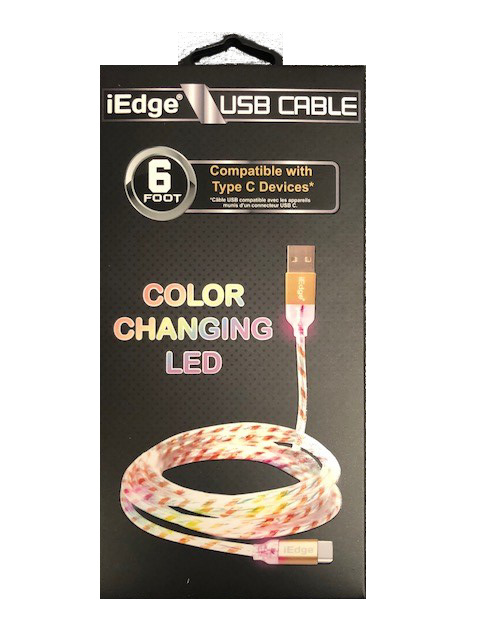 10' iP7 2 Tone Flat USB Cable [1996102]