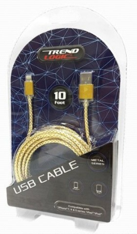 10' iPhone Glitter Mesh Cable (2168949)