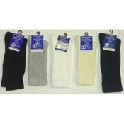 Knit Diabetic Crew Socks Mens 13-15