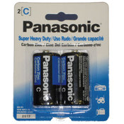 2 Pack C Size Panasonic Batteries Wholesale Bulk