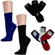 Ladies Solid Color Crew Socks