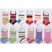 Ladies Computer Socks with Stripe Patterns