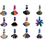 K. Bell Women's Novelty Socks - No-Show - 6-Pair Packs Wholesale Bulk