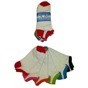 K. Bell Women's Novelty Socks - Two-Tone - 6-Pair Packs Wholesale Bulk