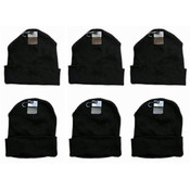 Adult Knit Hats with Cuff- Black