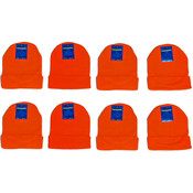 Adult Safety Orange Knit Hats