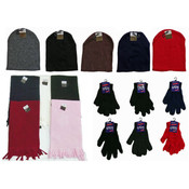Winter Beanie Hats, Gloves, and Scarves