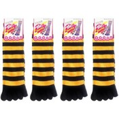 Women's Striped Toe Socks-Black &Gold