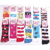 Ladies Toe Socks with Decals