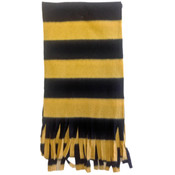 Fleece Scarves-Black and Gold
