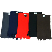 Winter Fleece Scarf-Solid - 10 Dozen