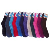 Ladies Fuzzy Socks, solid colors