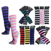 Knee High Computer Striped Socks