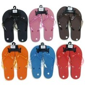 Ladies flip flops, Assorted Solid Colors