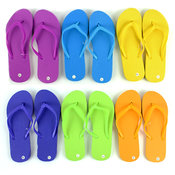 Women's Solid Colored Flip Flops Shoes