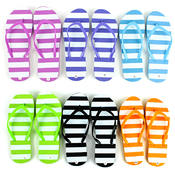 Women's Colored Patterned Flip Flops