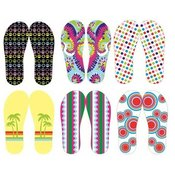 Women's Assorted Patterned Flip Flops