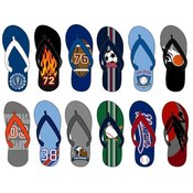 Boys Patterned Flip Flops