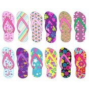 Girls Patterned Flip Flops