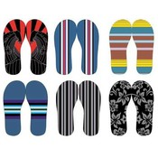 Men's Patterned Flip Flops