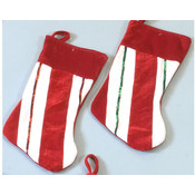 "15"" Christmas Striped Stockings"