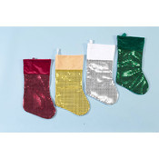 "16"" Glittered Christmas Stockings"