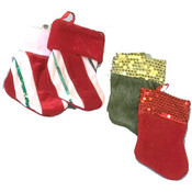 "2 Pack 7"" Christmas Stockings"