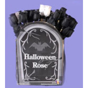 Halloween Black & White Roses