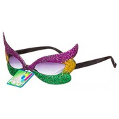 Owl Mardi Gras Mask Party Glasses