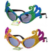 Mardi Gras Mask Party Glasses