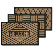 Coir Welcome Mats Assorted Patterns 18''x30'' Wholesale Bulk