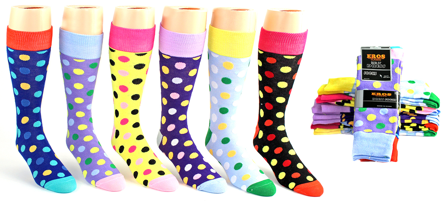 Men's Casual DRESS Socks - Dot Prints [1990134]