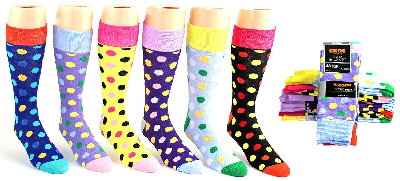 Men's Casual Dress Socks - Dot Prints [1990134]