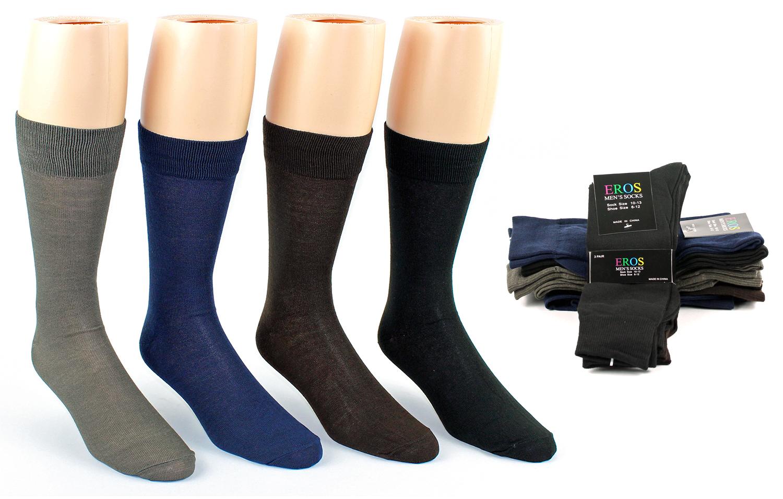 Men's Classic Crew DRESS Socks - Assorted Colors - Size 10-13 [49720]