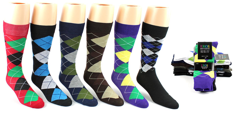 Mens Argyle Pattern Socks - Size 10-13 [313058]