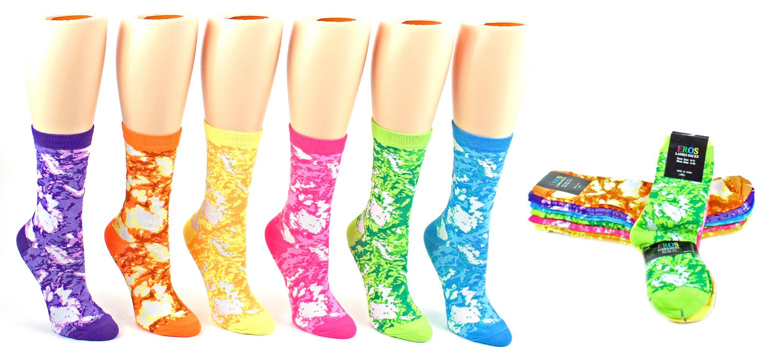 Women's Tie Dye Pattern Socks Size 9-11 [1877683]