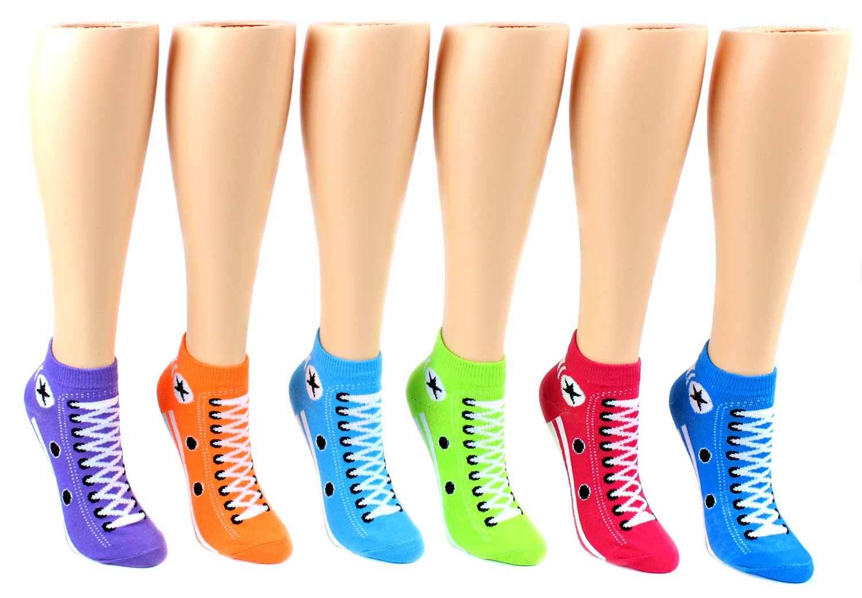 Women's Low-Cut Sneaker Patterned Socks - Size 9-11 [1475486]
