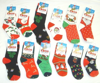 Wholesale Children's Christmas Ankle Socks Size 6-8 (SKU 63599 ...