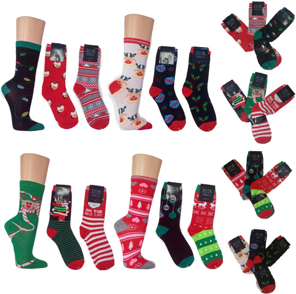 Women's CHRISTMAS Socks - Size 9-11 (63598)