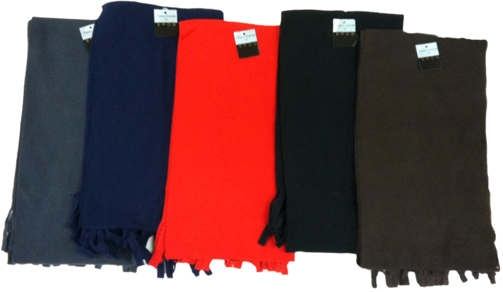 wholesale winter fleece scarves solid colors sku 324904